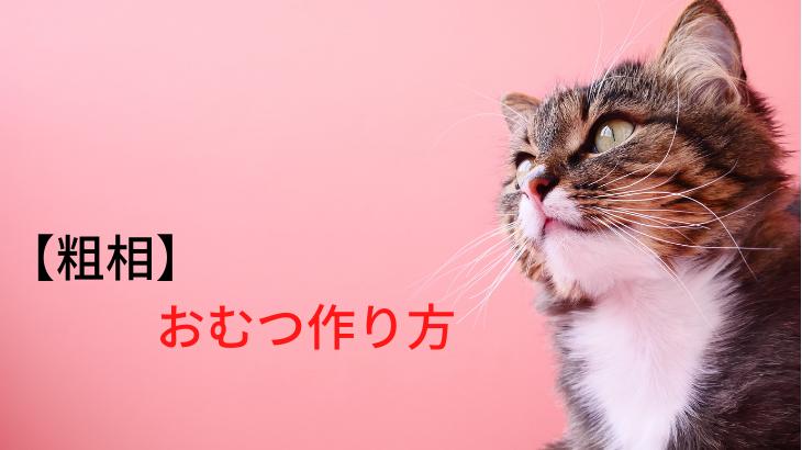 【粗相の悩み】猫の「おしっこ専用」オムツの作り方